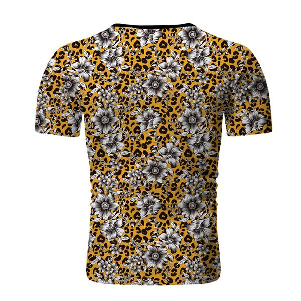 Casual Top Short Sleeve Floral Tops Pullover Solid Fashion Mens New T-Shirt